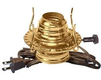 Oil Burner Lamp Making Kit Is Pre-Wired And Assembled
