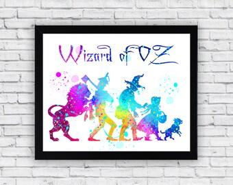 Wizard Of Oz Watercolor printable, Wizard Of Oz Printable Wall Art, Wizard Of Oz poster