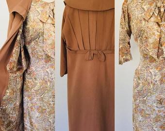 Vintage 50's Pretty Miss Fashions Day Dress & Coat Set l S