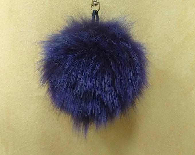 Fox Fur Pom Pom, Bag Pom Pom,Fur keychain F585