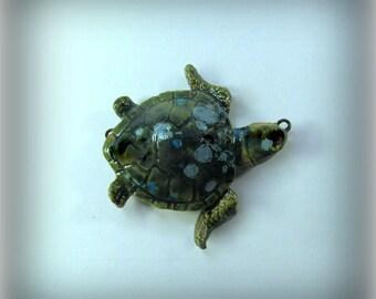 Turtle Bead, Pendant bead, Focal Bead, Ceramic bead,  clay bead,       # 105