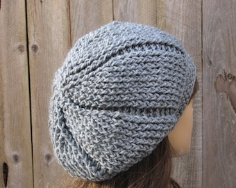 CROCHET PATTERN - Slouchy  Reversible Hat, Crochet Pattern PDF,Easy, Pattern No. 39