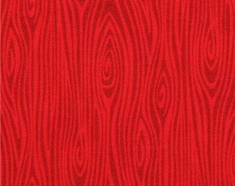 215832 red Michael Miller fabric Just Wood Knot