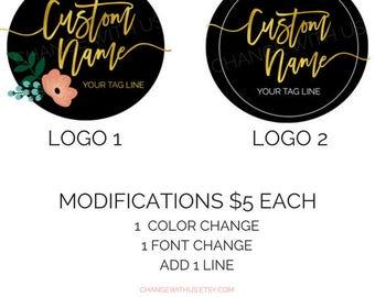 Premade/Personalized Logo // Feminine Design, Boutique, Logo Design, Brand Design, Business Logo, Baby Shop logo, Lip Logo, Floral Logo