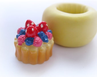 Berry Tart Mold Pie Sweets Mould Resin Clay Fondant Miniature SweetsJewelry Charms Flexible Molds