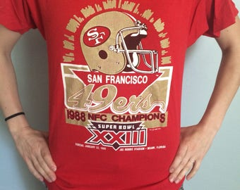 1988 San Fransiscon 49ers NFC Championship Shirt
