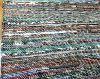 Handwoven rag rug, Boston Blackie,39-354s