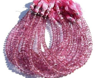 On Sale Full 8 Inches 4 - 5mm AAA Pink Mystic Topaz Micro Faceted rondelles