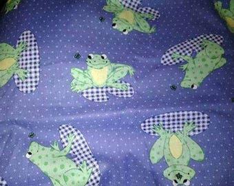 Blue Frog Fabric