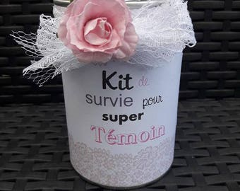 Super light wedding personalized survival kit