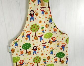 Apple Picking Medium Knitting Project Bag Tote Bag Over-the-Wrist Bag,  Reversible Knitting Tote Bag WTM0025