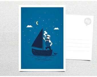 Postcard · Sailorman No. 1 · DIN A6