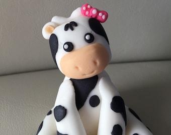 Cow Fondant Topper