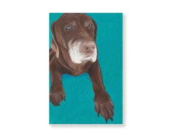 Custom Pet Portrait - 8x10 Colored Pencil Portrait of your Pet
