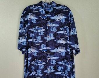 Men's Novelty Shirt With Trucks, L