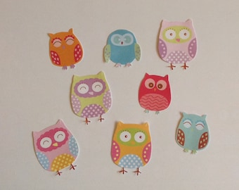 Paper owls, paper birds, embellishment cut outs, cute owls, set of 10 or 20, scrapbooking, card making, journalling, hand cut, baby shower