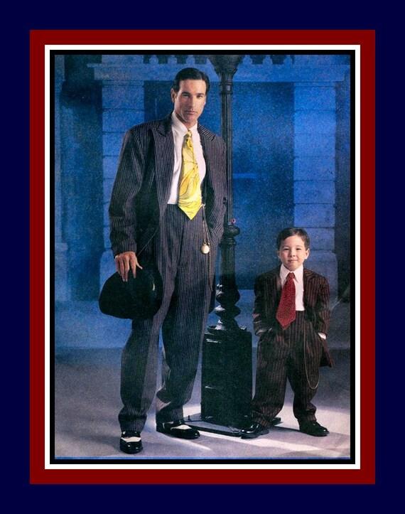 MENS ZOOT SUIT-Costume Sewing Pattern-Jacket-Tie Pants-Wide