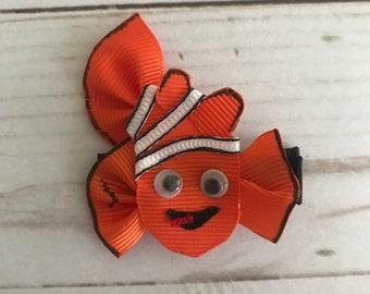 Nemo ribbon sculpture hair bow