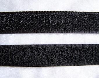 Velcro, adhesive, black