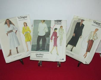 Vintage Lot of Ten (10) Sewing Patterns - Ladies' Vogue, Butterick, McCall's  Circa 80's - 90's