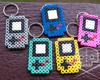 Gameboy-inspired Keychain- Fusible Beads- Multiple colors
