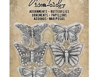 Tim Holtz Idea-Ology Adornments - Butterflies
