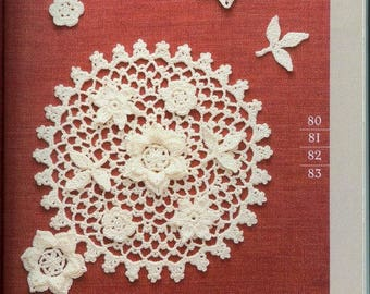 100 Patterns Crochet Lace Floral eBook- PDF Instant Download - Japanese Language