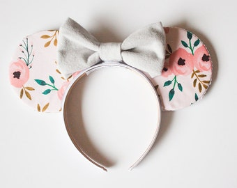 Beautiful Floral Spring Mouse Ears