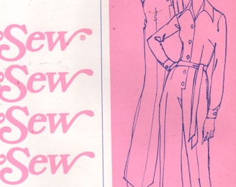 Stretch & Sew 720 1970s Tailored Misses JUMPSUIT Pattern for Knits 2 Lengths Womens Vintage Sewing Pattern UNCUT Bust 30 32 34 36 38 40 42