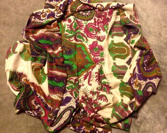 Bright Colored Paisley Design Scarf/Wrap