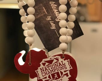 Alabama National Championship Blessing Beads -by isley-