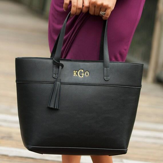 black aubrey purse handbag monogrammed purse diaper bag handbag personalized purse