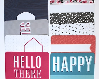 20 Project Life Cards PRISMATIC 4 x 6 Pocket Cards from Heidi Swapp Prismatic Core Kit