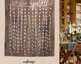 Rustic Wedding Engagement Decor, Rustic Wedding Decorations, Engagement Party Decorations, Bridal Shower Decorations/ W-G21-TP MAR1 AA3