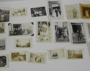 Lot 21 Vintage Photographs Children Military Families Dogs Cars 1930's 1940's