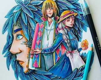Howl's Moving Castle Painting
