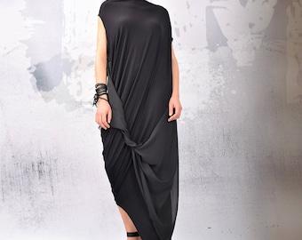 Black maxi dress,Black Dress, Little Black Dress, Plus Size Dress, Dress, Prom Dress,Cocktail Dress,Sleeveless Dress, Urbanmood - UM-119-VL