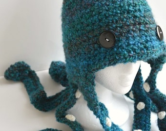 Octopus Hat Crochet - Beautiful Lagoon