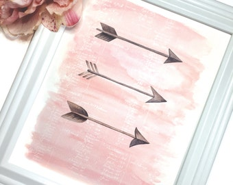 Arrows 8 x 10 Print in Blush