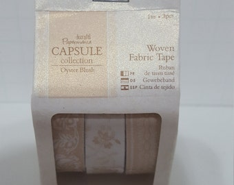 Do Crafts woven Fabric Tape:  Oyster Blush