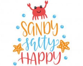 Sandy Salty Happy Summer shirt