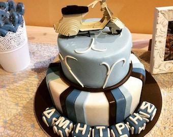 Vespa cake topper Etsy