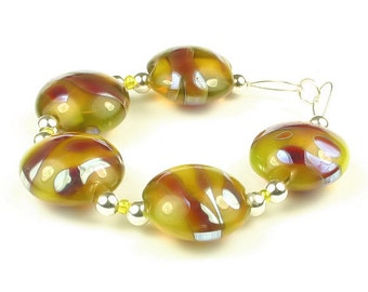 Electro  -  Handmade Lampwork Glass Beads