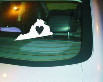 State Car decal, water bottle decal, laptop decal, Virginia State car decal vinyl sticker NEW