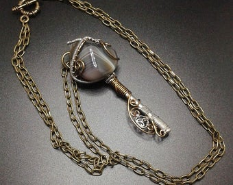 Steampunk is the key to wire wrapping Agate
