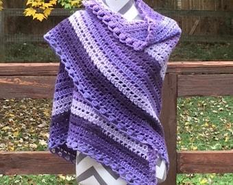 Prayerful in Purple Shawl ***FREE SHIPPING***