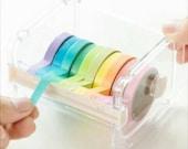 Washi Tape Dispenser Storage Case Masking Tape Organizer Tape Holder Cutter Dispenser