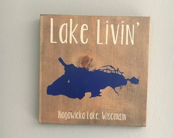 Lake sign/ lake outline/ custom sign