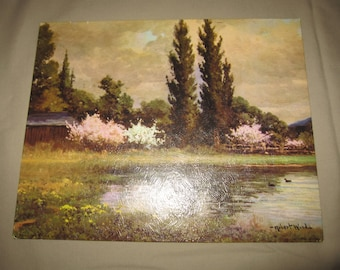 Vintage Robert Wood Landscape 8 x 10 Winde Fine Prints Made in Canada