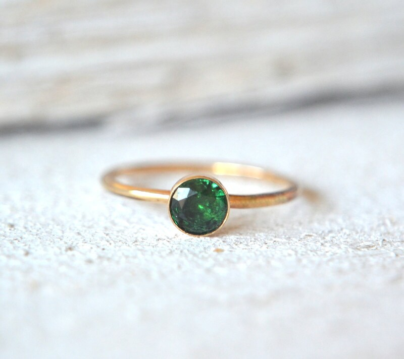 Uitzonderlijk Emerald Ring. Gold Emerald Ring Emerald Ring Gold Small &IR68